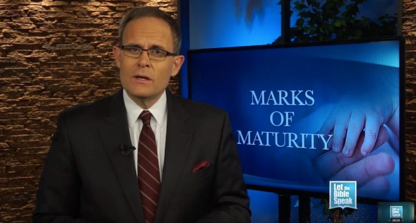 Marks Of Maturity (The Text)
