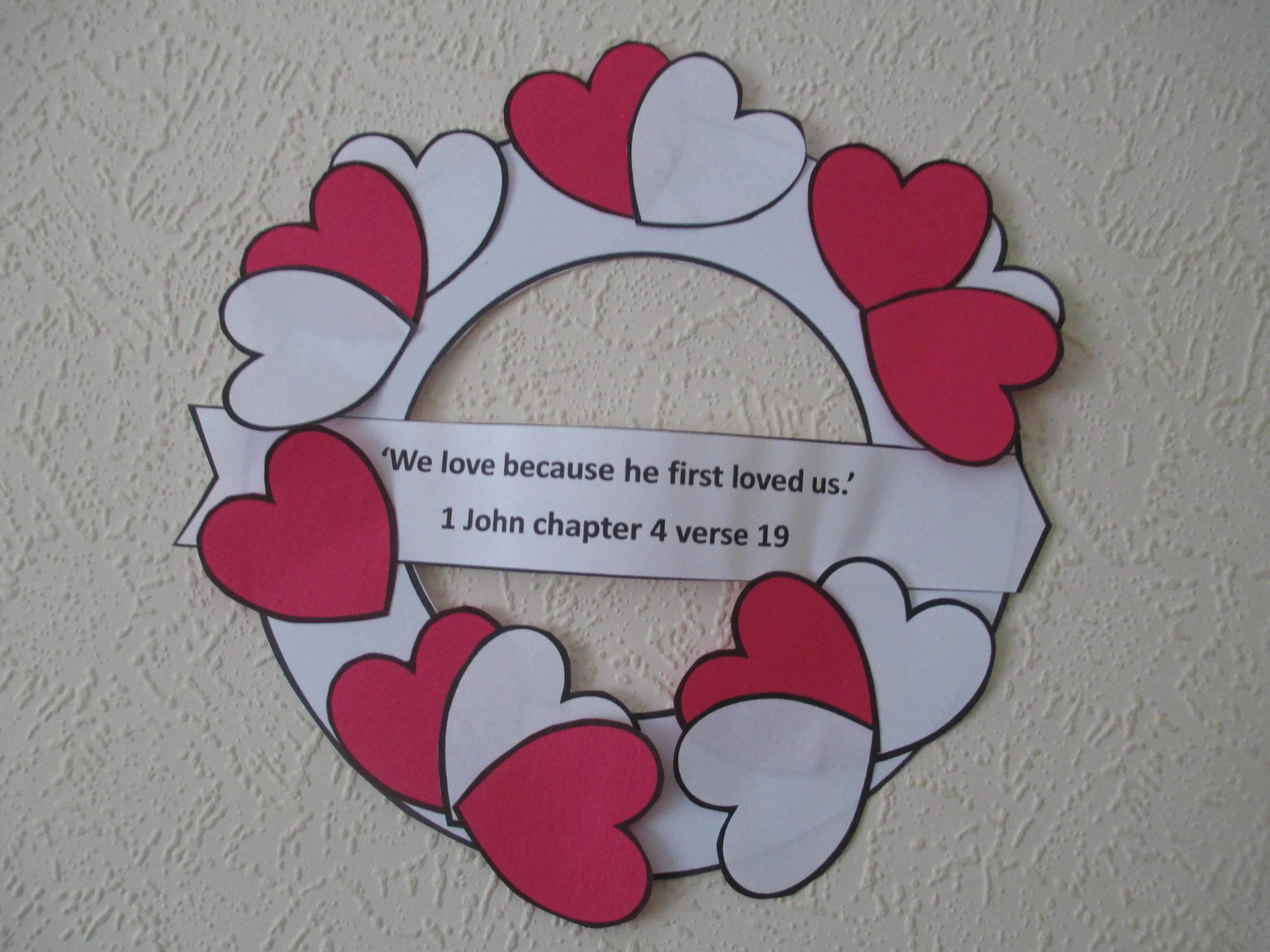 Valentine Heart Wreath Craft Let Their Light Shine