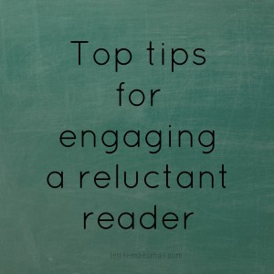 engaging a reluctant reader