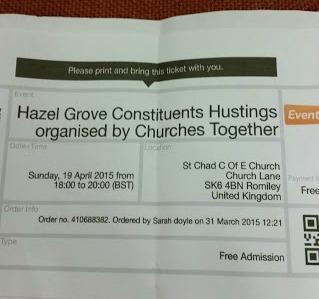 Election 2015 – Hazel Grove Hustings
