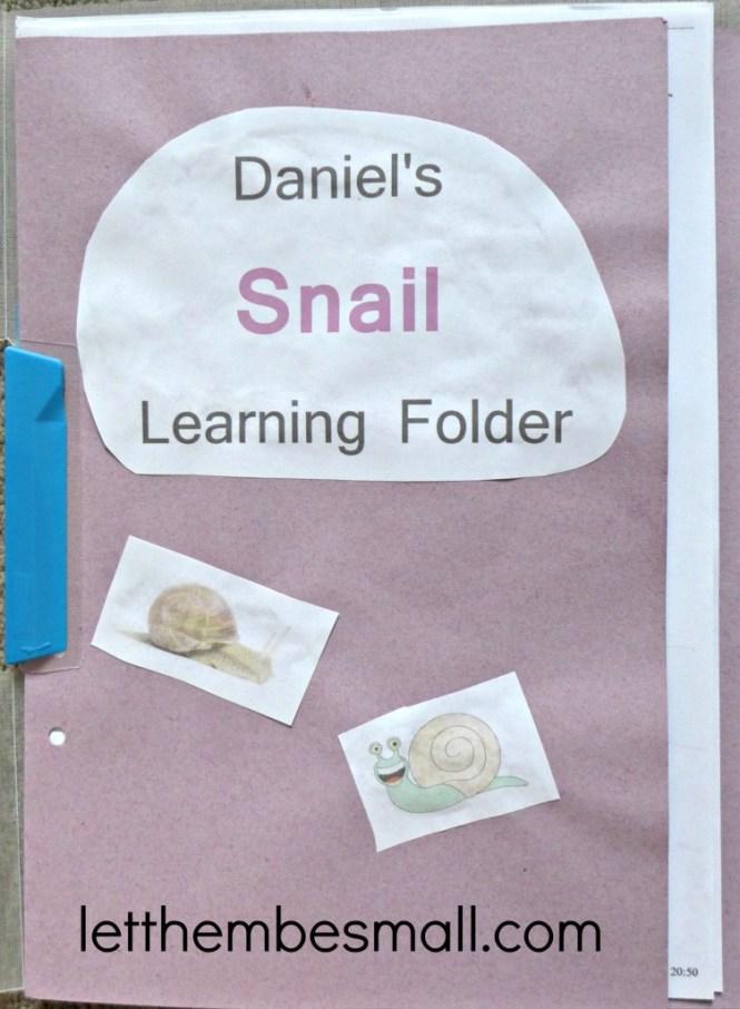 ideas for EYFS learning folder