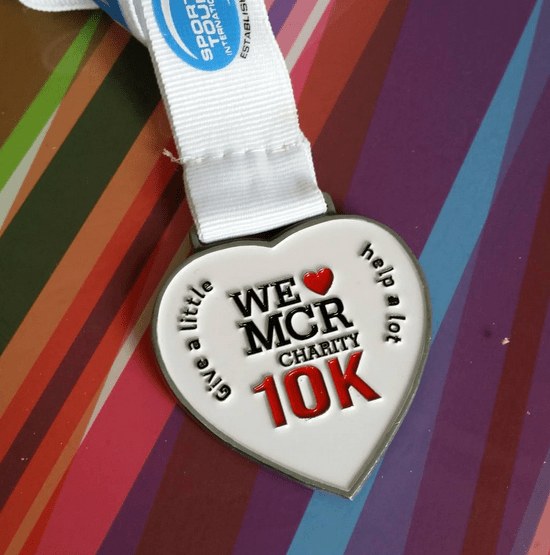 we love manchester 10k 2015 medal