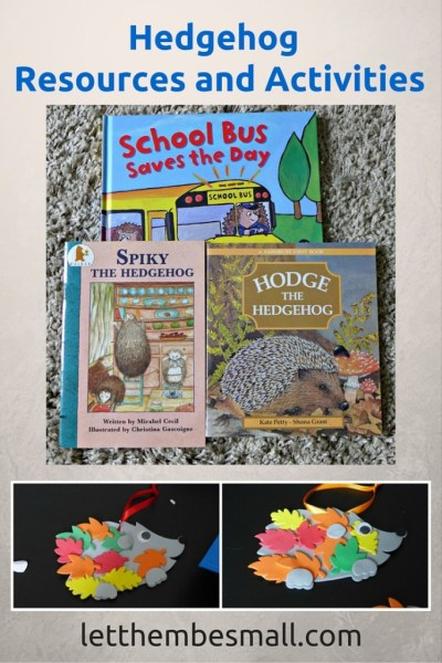 resources and activities for learning about hedgehogs - ideas for pre school age children