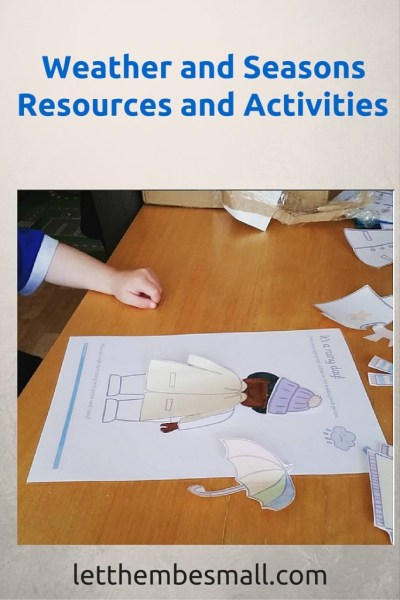 Ideas and resources for weather and seasons topic for toddlers and pre schoolers. Includes links to printable resources.
