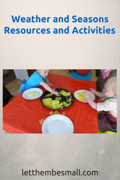 ideas and resources for teaching about weather and seasons - inlcudes link to resources and printables
