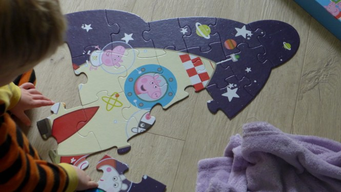 Peppa Pig space jigsaw