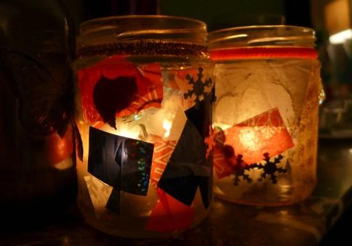 toddler christmas candle jars