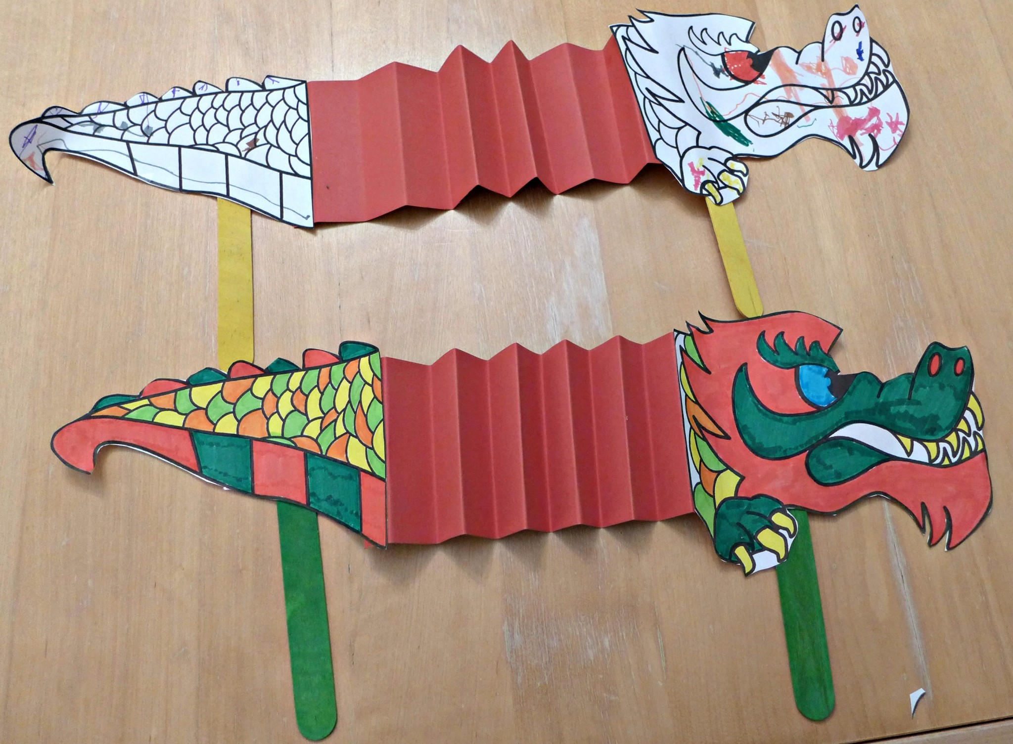 Chinese New Year Kid Crafts Dragon