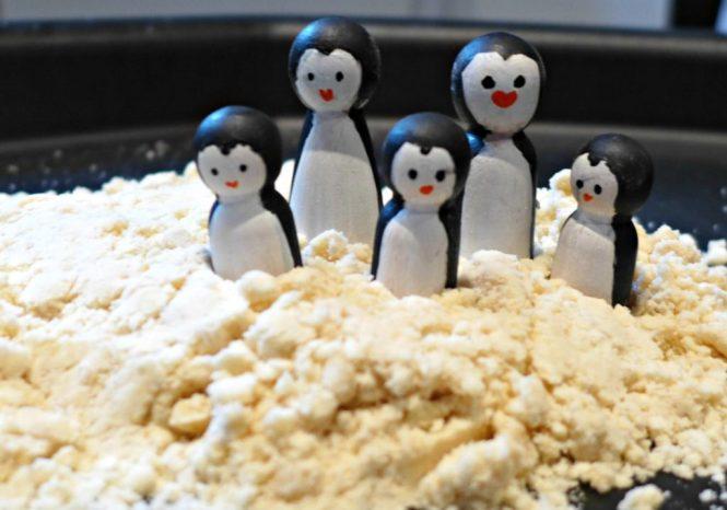 five ideas for home made snow cloud dough