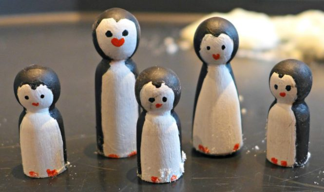 Peg doll penguin