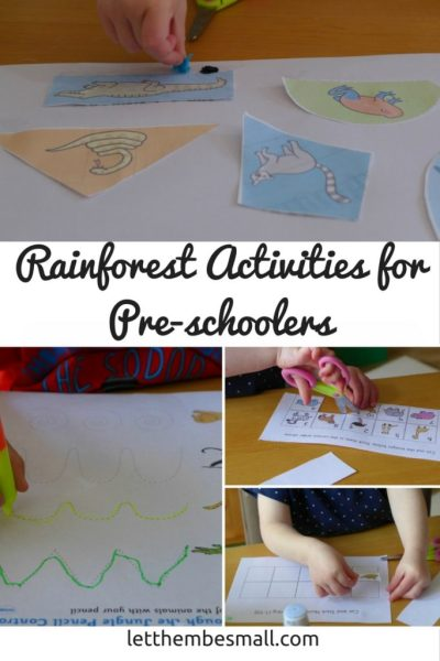 See our suggestions for rainforest activities for toddlers and preschoolers