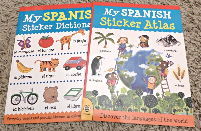 B Small publishing spanish sticker books
