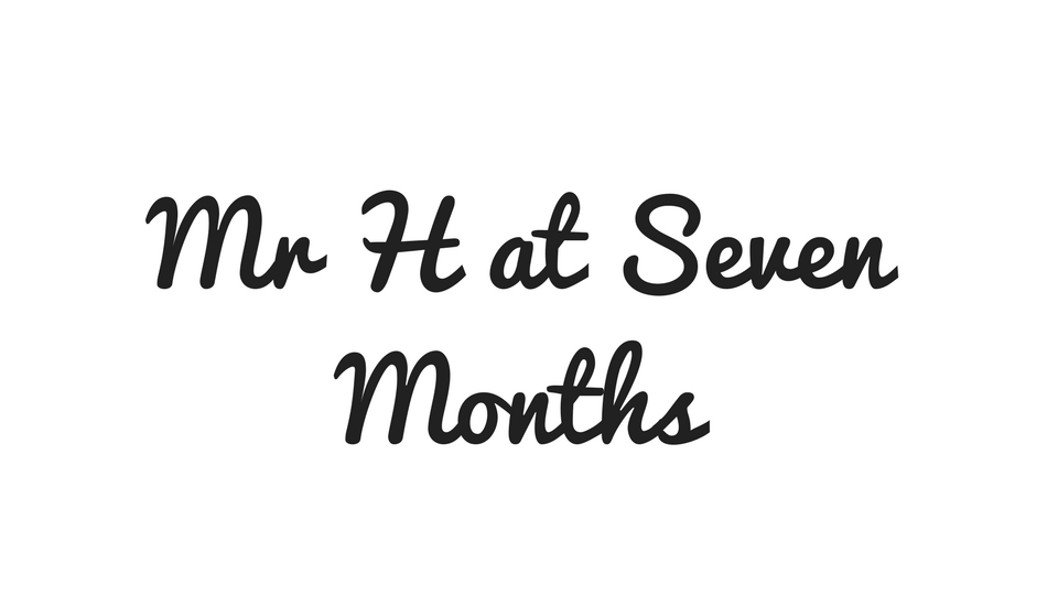 Mr H at Seven Months Old (& Giveaway)
