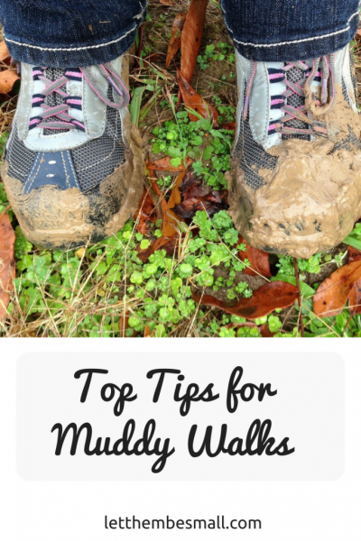 top tips for muddy walks with young children
