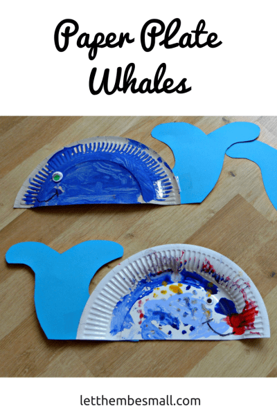 super simple paper plate craft with this paper plate whale
