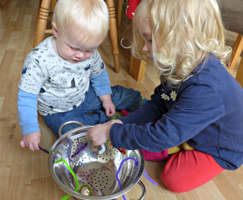 exploring nature with children minibeasts