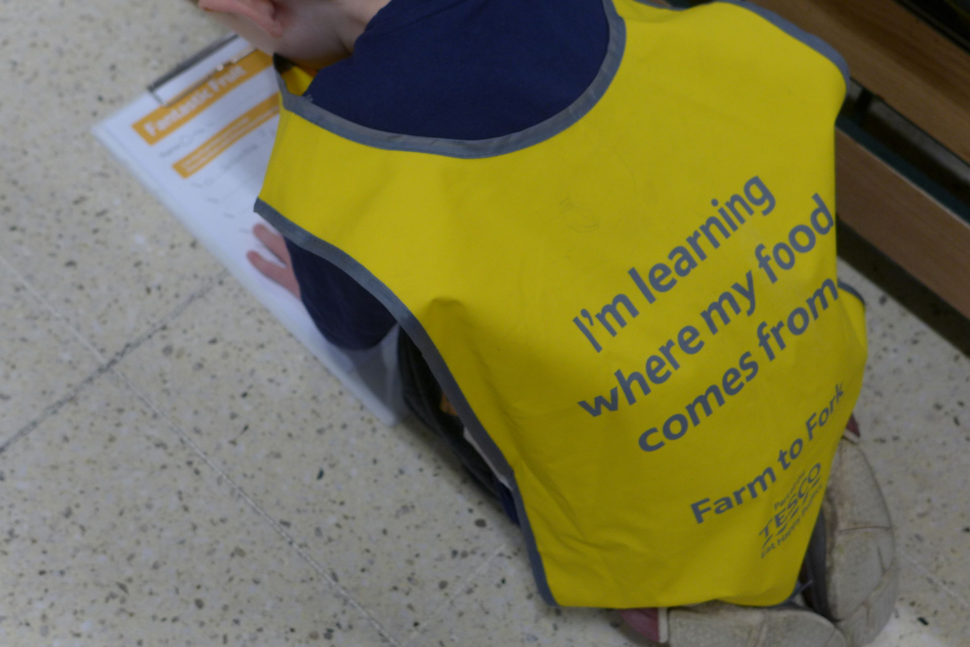 child at the Tesco Farm to Fork Trail