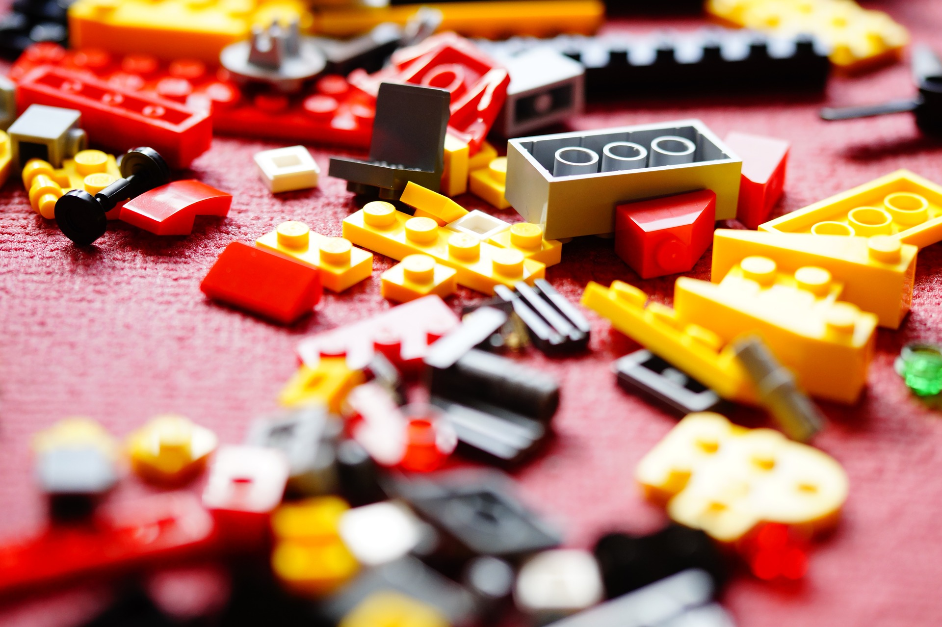 messy lego on the floor