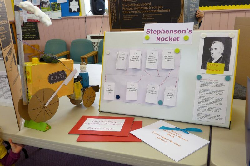 Stephensons ROcket history fair display