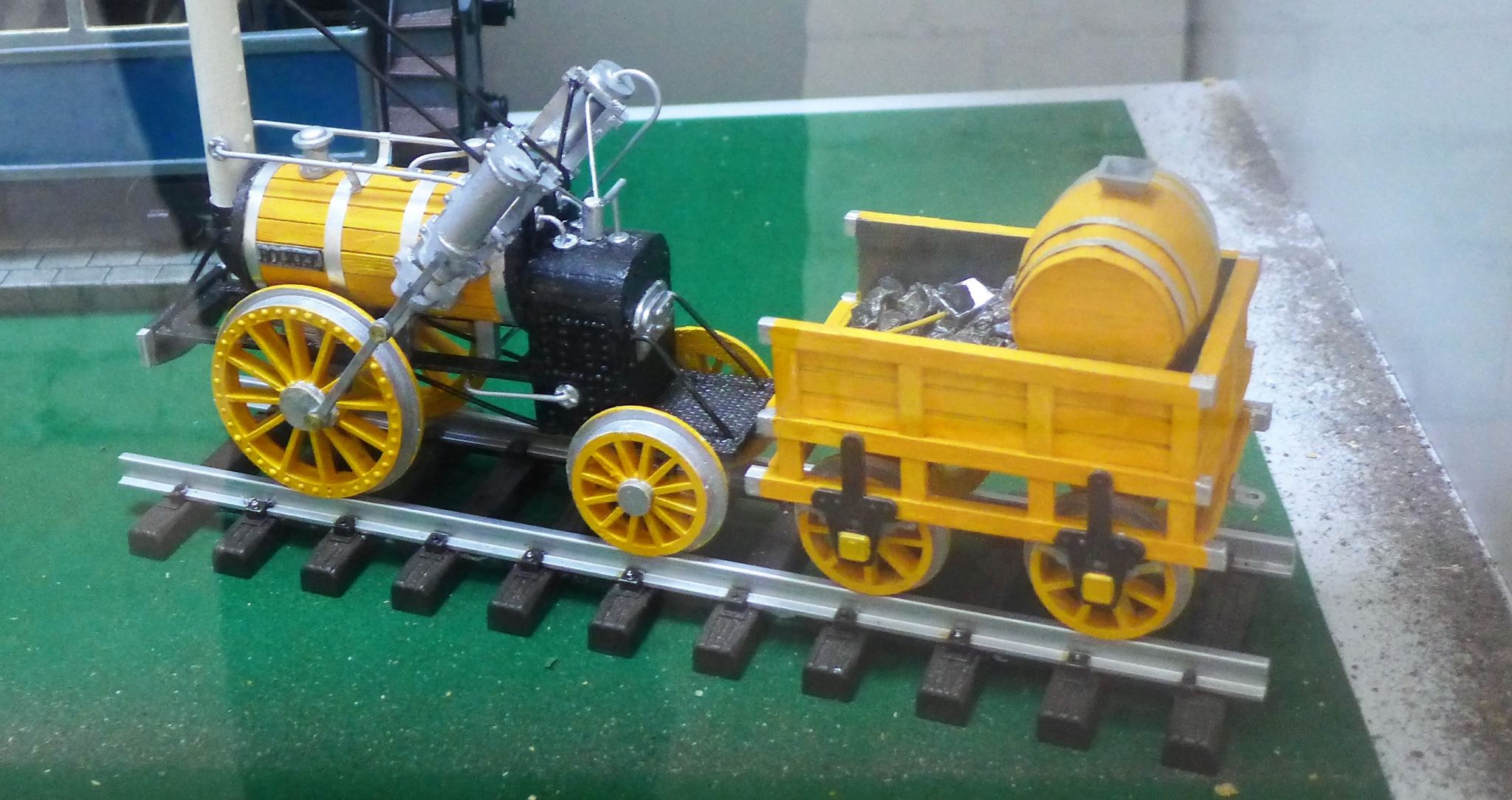 scale modle of Stephenson's Rocket