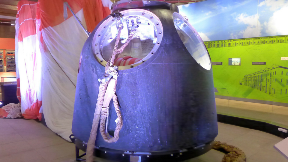 Viewing Tim Peake's Soyuz Capsule