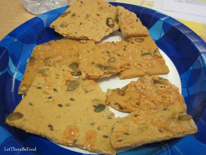 Pumpkin Seed and Cheddar Crackers
