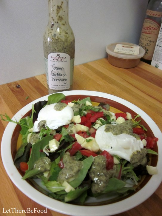 Salad with Green Goddess dressing
