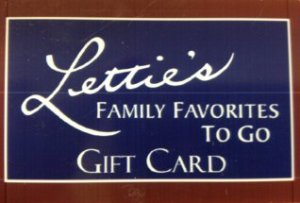 Gift Cards from Letties Kitchen