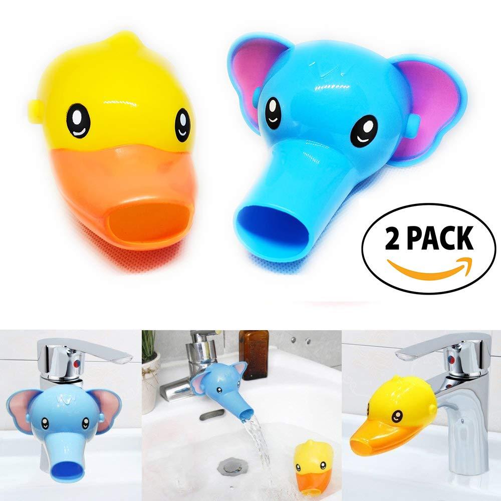 3 6 pcs animal faucet extender for kids