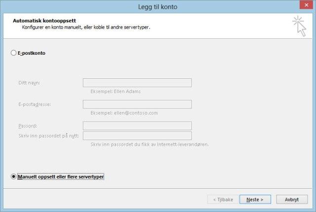 Google Apps Outlook steg 1
