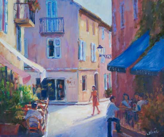 Painting of St. Tropez by Nicole White Kennedy...