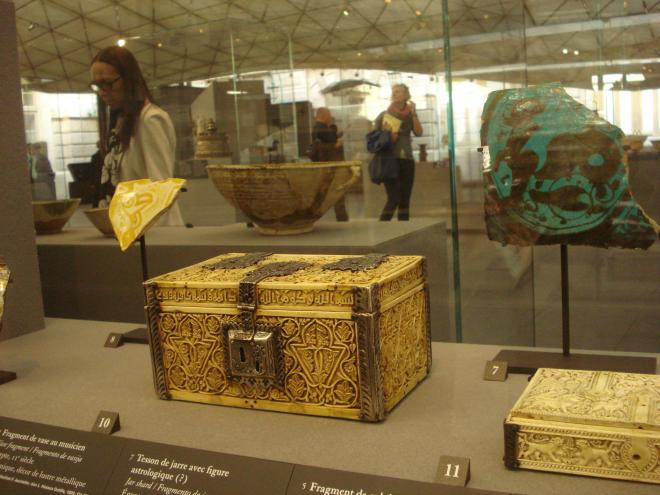 A Spanish ivory chest from Cordoba at the Louvre's Islamic Art collection...