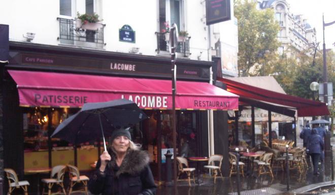 Outside cafe Lacombe...