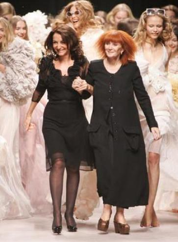Sonia Rykiel with her daughter Nathalie...