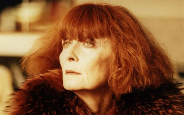 Sonia Rykiel... with her signature red hair...