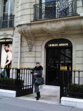 Giorgio Armani's new boutique...