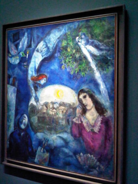 """""""Autour d'elle"""" by Marc Chagall, 1945..."""