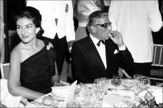 Maria Callas and Aristotle Onassis...