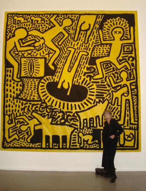 Untitled painting by Keith Haring (1981)...