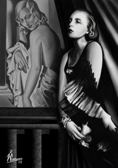 """In Memory Of Tamara De Lempicka""... by Wirtuozo Maciej Zumirski..."