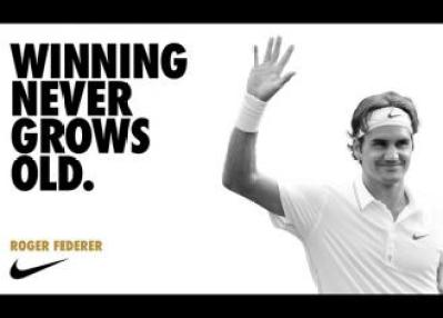 "Roger Federer... ""Winning never grows old""..."