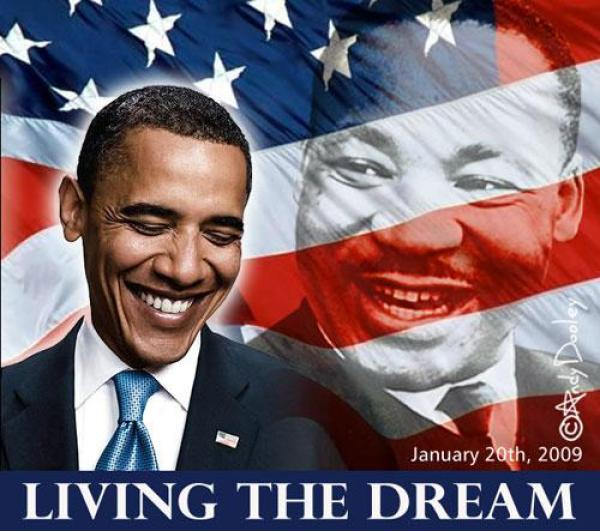 Martin Luther King Jr.... and Barack Obama...