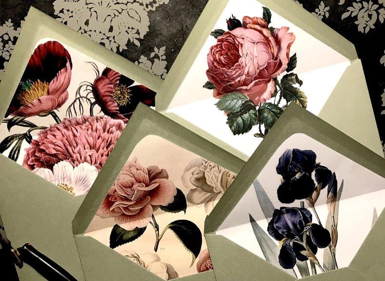 Enveloppes doublées botanique