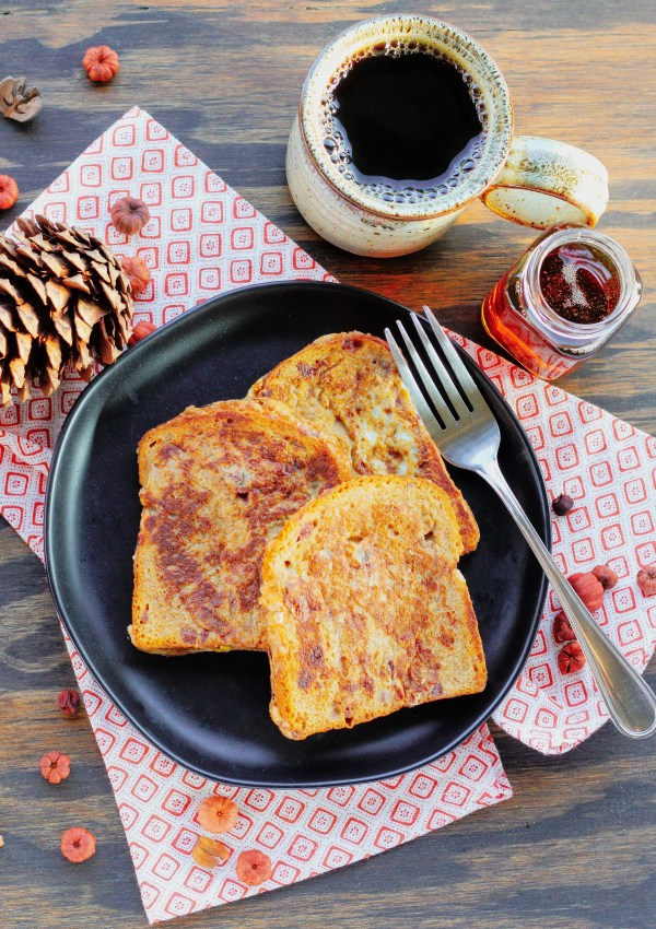Pumpkin Spice Egg Nog French Toast