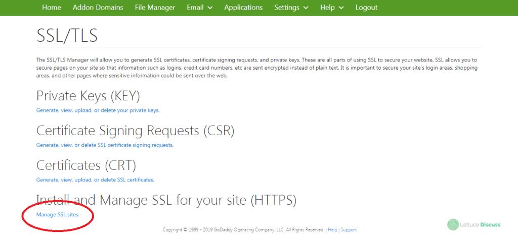Free SSL Certificate Wizard Step 20