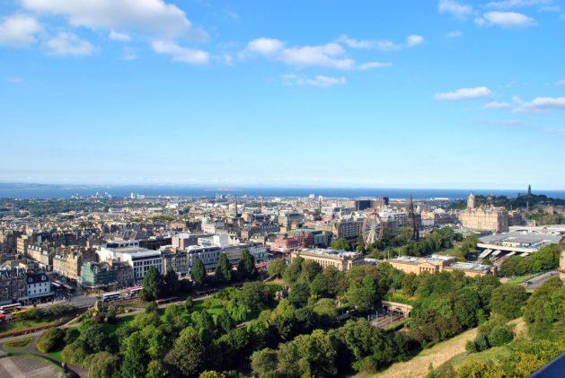Edimburgo vista dal castello