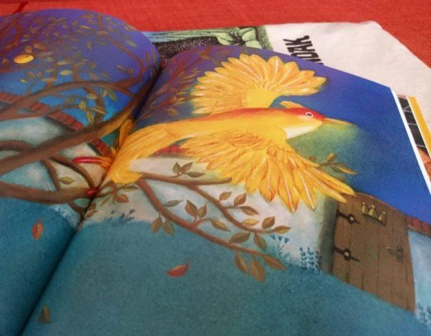 Fiabe ceche: illustrazione, uccello dalle piume d'oro