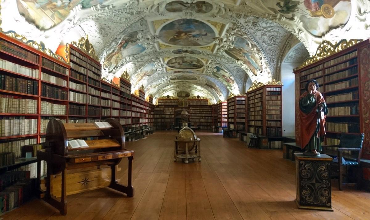 Praga: io, Blu e la biblioteca del monastero di Strahov