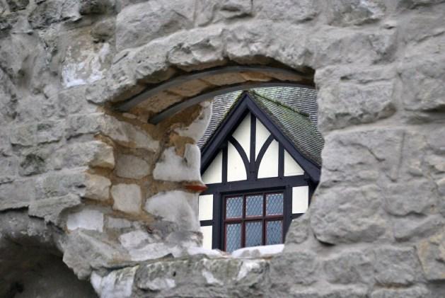 Arundel, particolare: vista dalle rovine del monastero di Blackfriars