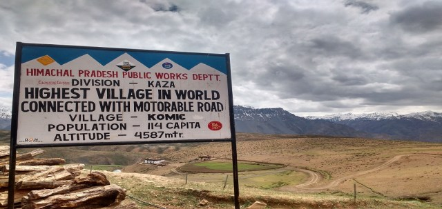Komic village highest in world spiti valley
